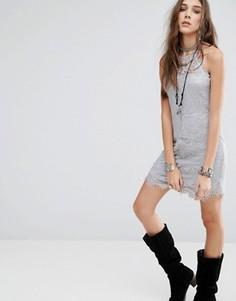 Платье-комбинация Free People Shes Got It - Серый