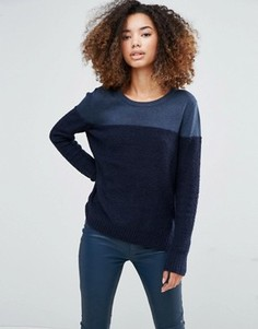 Темно-синий джемпер в стиле колор блок Shae Donna - Темно-синий
