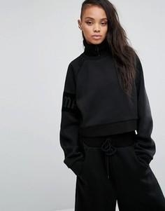 Укороченный свитшот на молнии Fenty X Puma By Rihanna - Черный