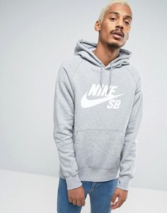 Серое худи Nike SB Icon 846886-063 - Серый