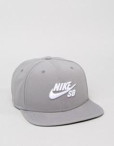 Серая бейсболка Nike SB Icon Pro 628683-003 - Серый