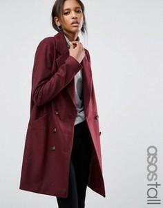 Пальто-бушлат ASOS TALL - Красный
