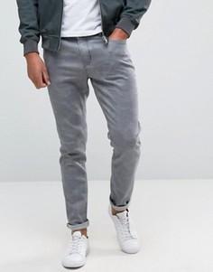 Облегающие серые джинсы с камуфляжным узором Hoxton Denim - Серый