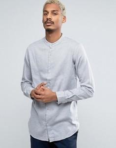 Удлиненная рубашка с воротником на пуговицах ADPT - Серый