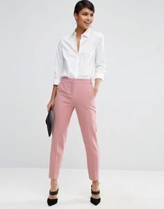 Приталенные брюки ASOS Premium - Розовый