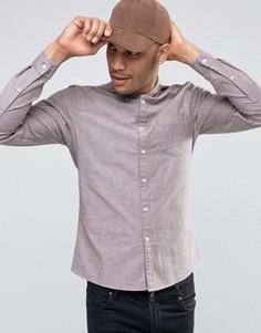 Бордовая оксфордская рубашка скинни ASOS - Красный