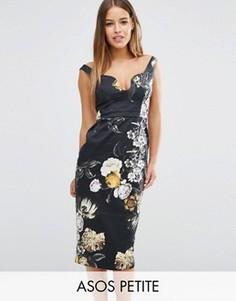 Платье-футляр с цветочным принтом ASOS PETITE - Мульти