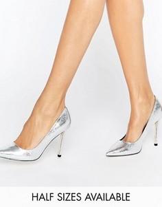 Туфли на высоком каблуке с острым носком ASOS PERU - Серебряный
