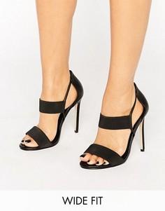 Сандалии на каблуке для широкой стопы ASOS HYDRA - Черный