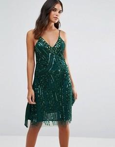 Платье на тонких бретельках A Star Is Born - Зеленый