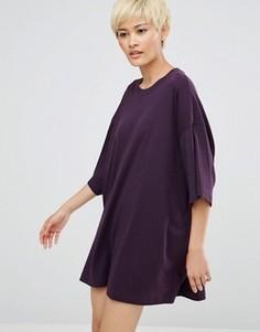 Платье-футболка Weekday Huge - Фиолетовый