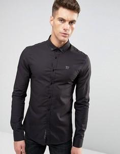 Облегающая рубашка с длинными рукавами 11 Degrees - Черный