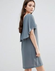 Платье с оборкой Y.A.S Naomi - Серый