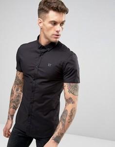 Облегающая рубашка с короткими рукавами 11 Degrees - Черный