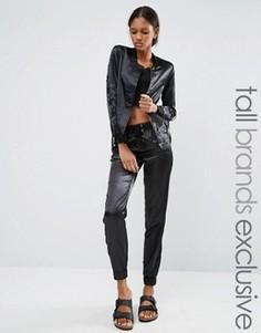 Спортивные брюки с отделкой шнуровкой Noisy May Tall - Черный