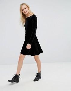 Бархатная мини‑юбка First & I - Черный
