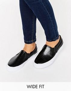 Кроссовки-слипоны для широкой стопы ASOS DULCIE - Черный