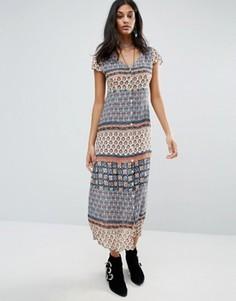 Платье с принтом Raga - Мульти