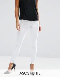 Белые джинсы скинни с высокой талией ASOS PETITE Ridley - Белый