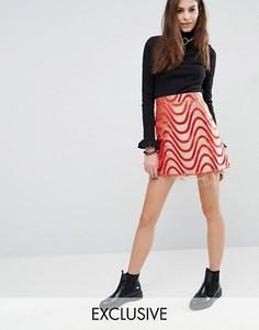 Мини-юбка Reclaimed Vintage - Красный