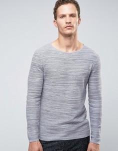 Джемпер из вафельного трикотажа Selected Homme - Серый
