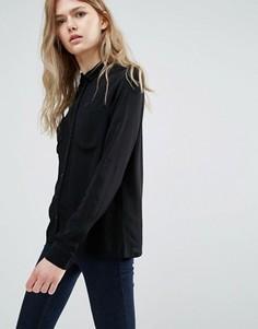 Рубашка с контрастными пуговицами Vila - Черный