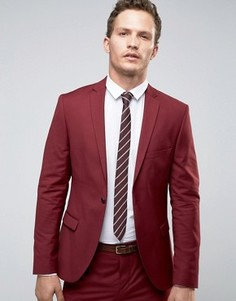 Бордовый пиджак суперузкого кроя Selected Homme - Красный