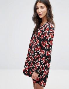 Цельнокройное платье с цветочным принтом Brave Soul - Мульти