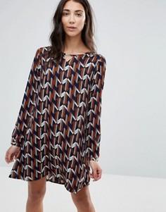 Цельнокройное платье с принтом Brave Soul - Мульти
