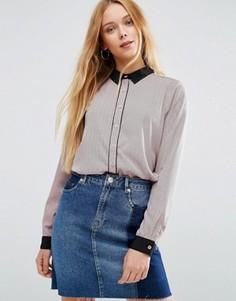 Рубашка с контрастной отделкой Brave Soul - Розовый
