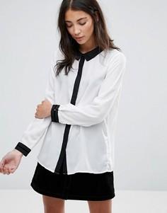 Рубашка с контрастной отделкой Brave Soul - Кремовый