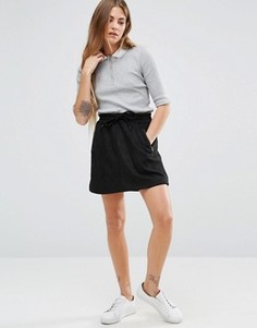 Мини-юбка со шнурком на поясе Brave Soul - Черный