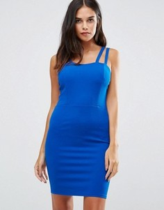 Платье мини на бретельках Wal G - Синий