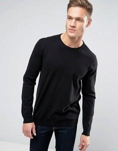 Джемпер с круглым вырезом Burton Menswear - Черный