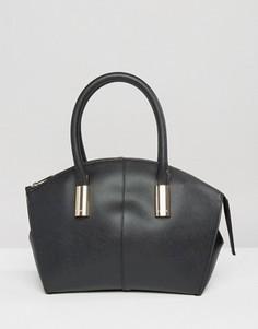 Черная сумка-тоут с контрастной подкладкой Lipsy - Черный