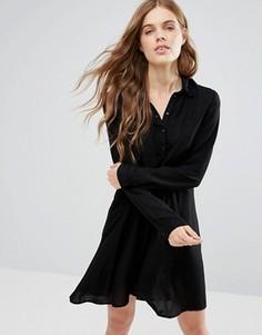Асимметричное платье-рубашка Noisy May Debby - Черный
