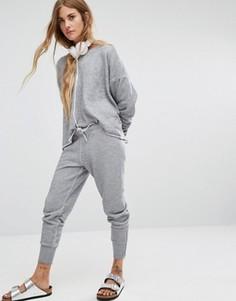 Серые меланжевые джоггеры Wildfox - Серый