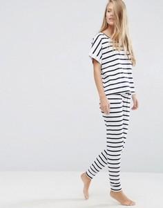 Пижама с футболкой и леггинсами в бретонскую полоску ASOS - Мульти