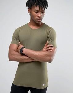 Облегающая футболка Only & Sons - Зеленый