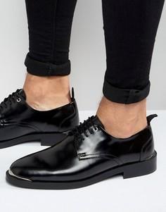 Черные кожаные туфли ASOS - Черный
