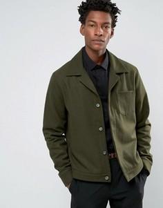 Куртка цвета хаки с добавлением шерсти ASOS - Зеленый