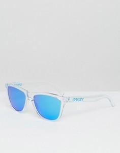 Солнцезащитные очки в квадратной оправе с зеркальными стеклами Oakley - Прозрачный