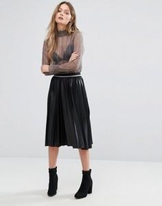 Плиссированная юбка миди Vero Moda - Черный