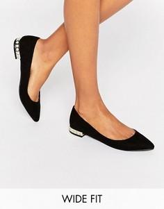 Балетки для широкой стопы New Look - Черный