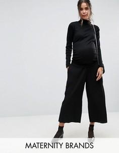 Юбка-шорты для беременных со складками New Look Maternity - Черный