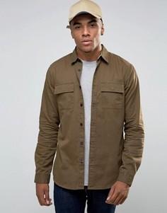 Куртка-рубашка цвета хаки в стиле милитари New Look - Коричневый