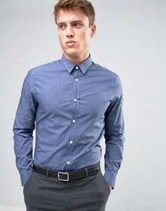 Строгая синяя рубашка классического кроя New Look - Синий