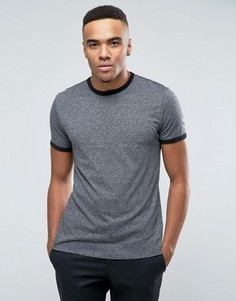 Серая футболка New Look Ringer - Серый
