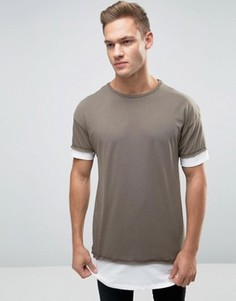 Многослойная футболка цвета хаки New Look - Зеленый