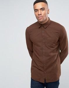 Фактурная рубашка классического кроя New Look - Коричневый